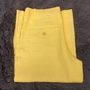 Theory Bright Yellow Bermuda Shorts